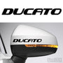 2x Ducato Side Mirror Vinyl Transfer Decals