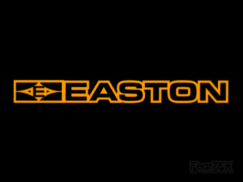 2x Easton Vinyl Outline Transfer Decal