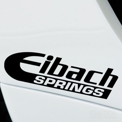 2x Eibach Springs Performance Tuning Vinyl Decal