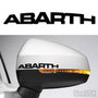 2x Abarth Side Mirror Vinyl Transfer Decals
