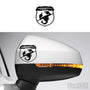 2x Abarth Shield Logo Side Mirror Vinyl Transfer Decals