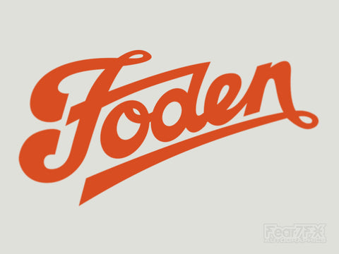 2x Foden Vinyl Transfer Decal