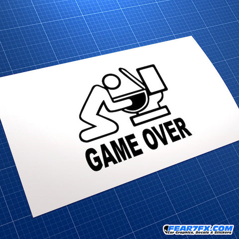 Game Over JDM Car Vinyl Decal Sticker