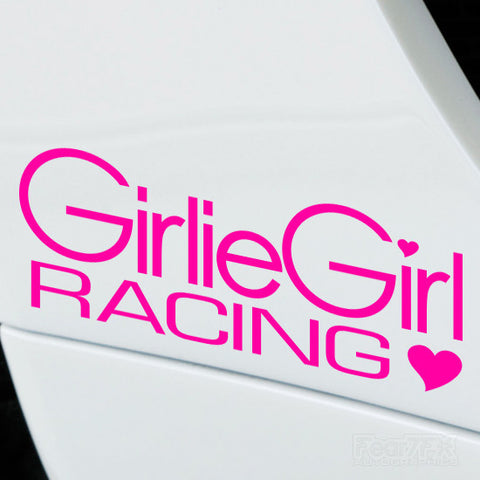 2x Girlie Girl Racing Performance Tuning Vinyl Decal