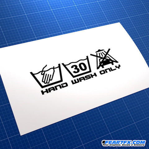 Hand Wash Only V3 Funny JDM Car Vinyl Decal Sticker