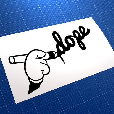 Dope Toon Graffiti Style JDM Car Vinyl Decal Sticker