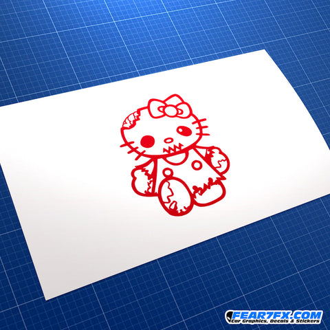 Hello Kitty Zombie Vinyl Decal Sticker