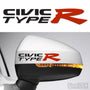 2x Civic Type R Side Mirror Vinyl Transfer Decals