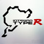 1x Integra Type R Nurburgring Vinyl Transfer Decal