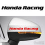 2x Honda Racing Side Mirror Vinyl Transfer Decals