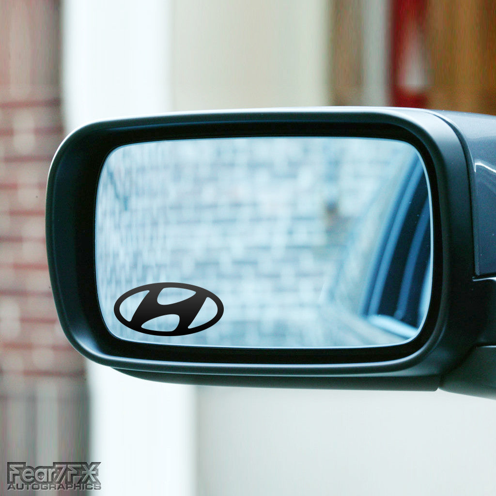 2x Hyundai Wing Mirror Vinyl Transfer Decals