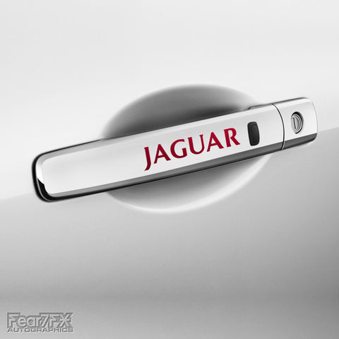 4x Jaguar V2 Door Handle Vinyl Decals