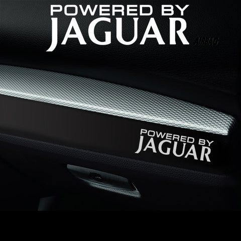 2x Jaguar V1 Dashboard Powered By Vinyl Decal