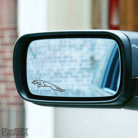 2x Jaguar Logo Wing Mirror Vinyl Transfer Decals