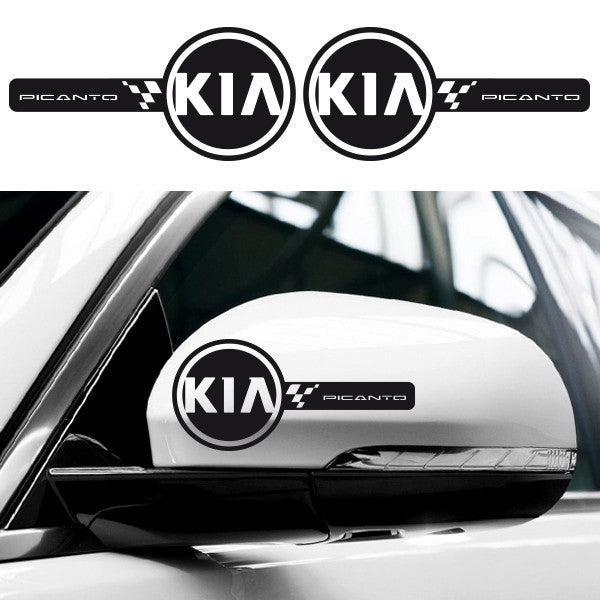 2x KIA Picanto Custom Wing Mirror Vinyl Decals