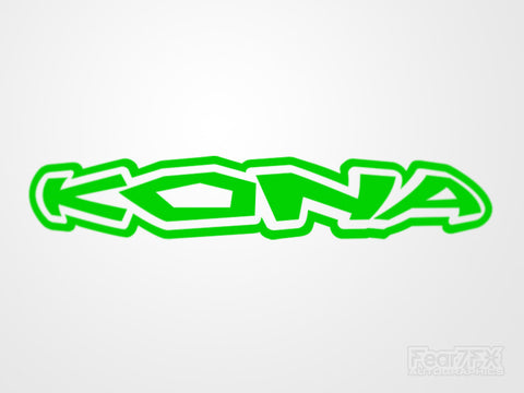 2x Kona V1 Vinyl Transfer Decal