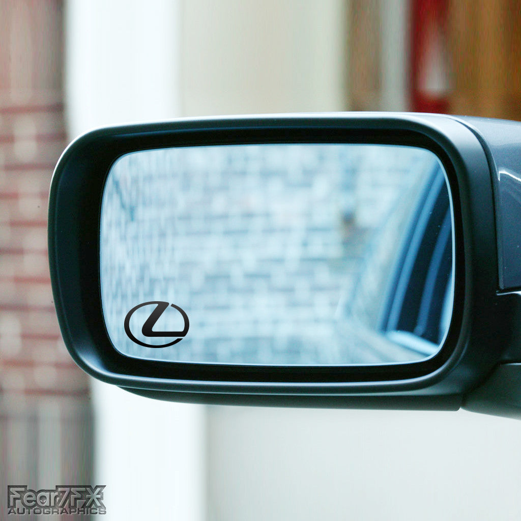 2x Lexus Logo Wing Mirror Vinyl Transfer Decals