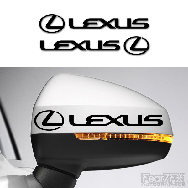 2x Lexus Side Mirror Vinyl Transfer Decals