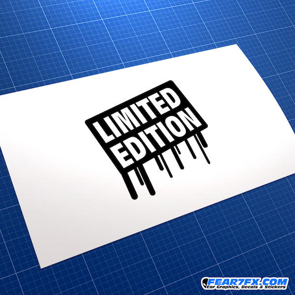 Limited Edition Car Vinyl Decal Sticker