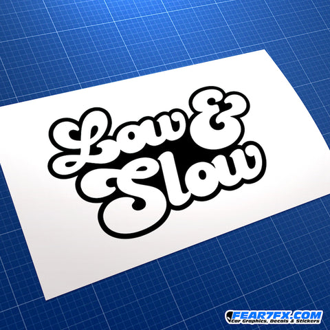 Low And Slow JDM Vinyl Decal Sticker