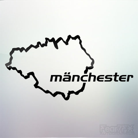 1x Manchester Custom Nurburgring Style Vinyl Decal