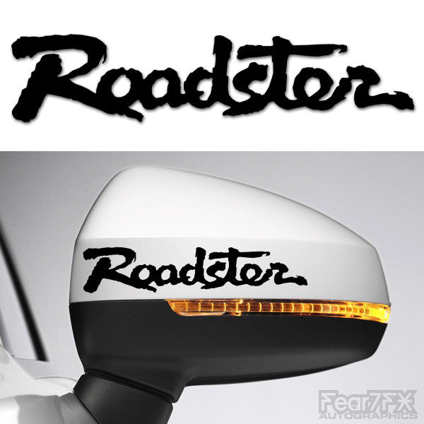 2x Roadster Side Mirror Vinyl Transfer Decals