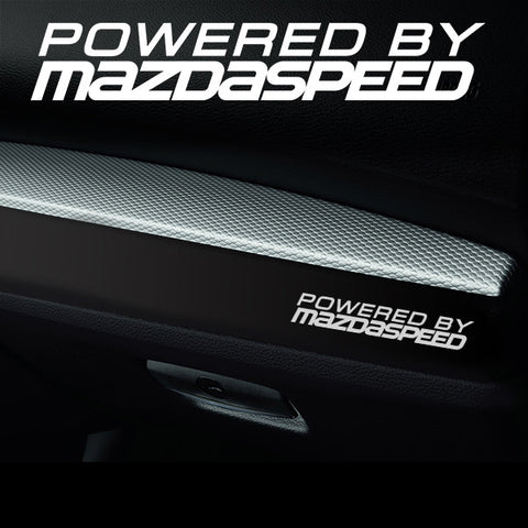2x Mazdaspeed Dashboard Powered By Vinyl Decal