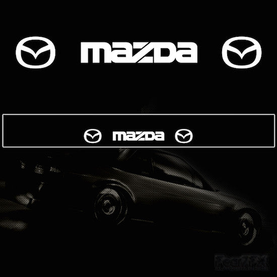 Mazda Vinyl Windscreen SunStrip Any 2 Colours