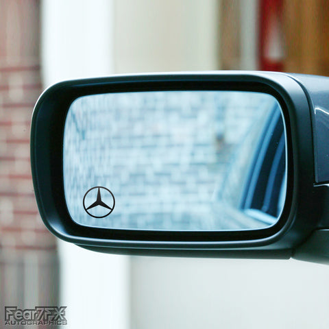 2x Mercedes Logo Wing Mirror Vinyl Transfer Decals