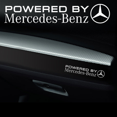 2x Mercedes V2 Dashboard Powered By Vinyl Decal