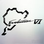 1x Evolution VI Nurburgring Vinyl Transfer Decal
