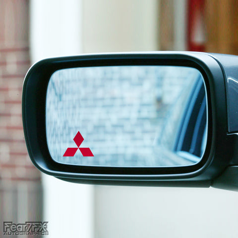 2x Mitsubishi Wing Mirror Vinyl Transfer Decals