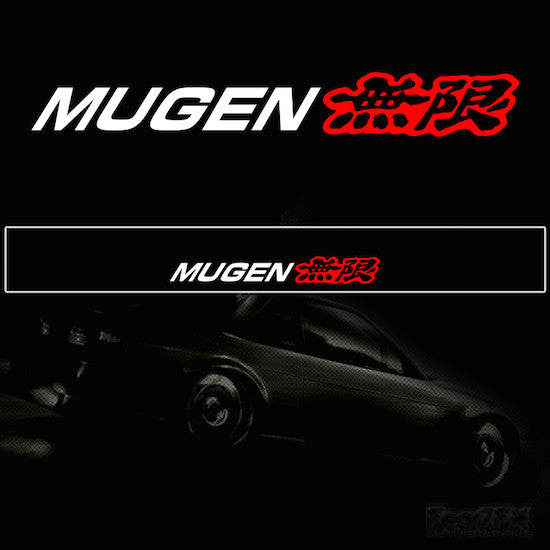 Mugen V1 Vinyl Windscreen SunStrip Any 3 Colours