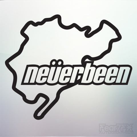 1x Neverbeen V1 Nurburgring Vinyl Transfer Decal