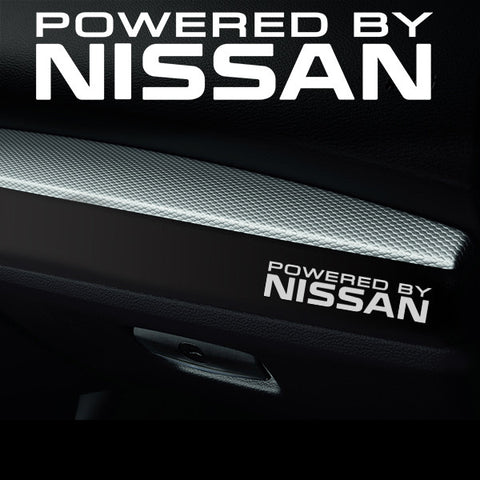 2x Nissan Dashboard Powered By Vinyl Decal