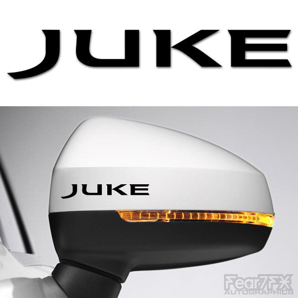 2x Juke Side Mirror Vinyl Transfer Decals