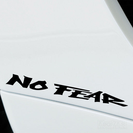 2x No Fear Performance Tuning Vinyl Decal