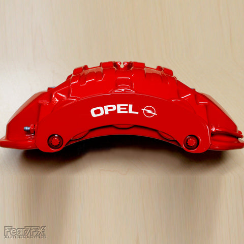 5x Opel Brake Caliper Vinyl Transfer Decals