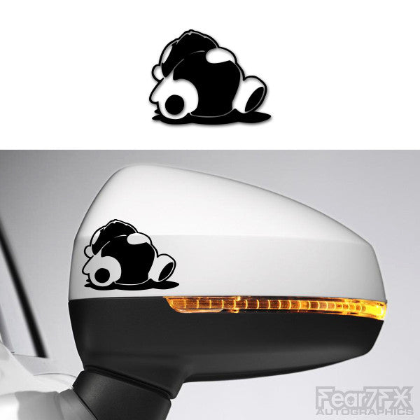 2x Panda JDM Logo Side Mirror Vinyl Transfer Decals