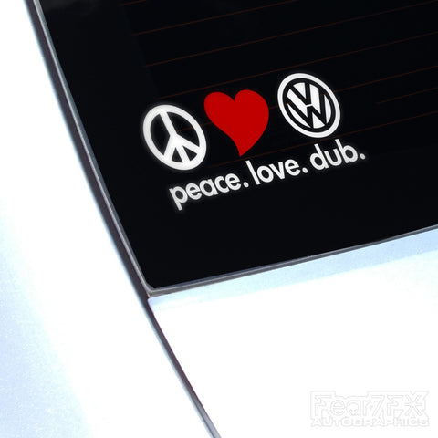 Peace Love Dub VW JDM Camper Decal Sticker