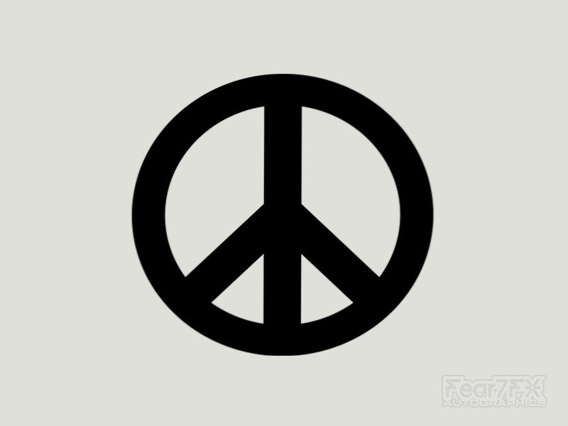 2x Peace Sign Surf Vinyl Transfer Decal