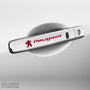 4x Peugeot Door Handle Vinyl Decals