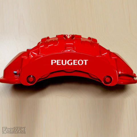 5x Peugeot Brake Caliper Vinyl Transfer Decals