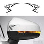 2x Peugeot Lion Side Mirror Vinyl Transfer Decals