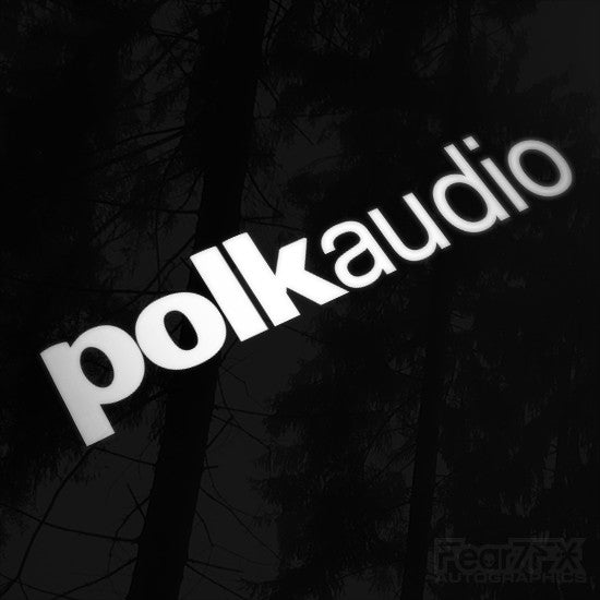 1x Polk Audio Vinyl Transfer Decal