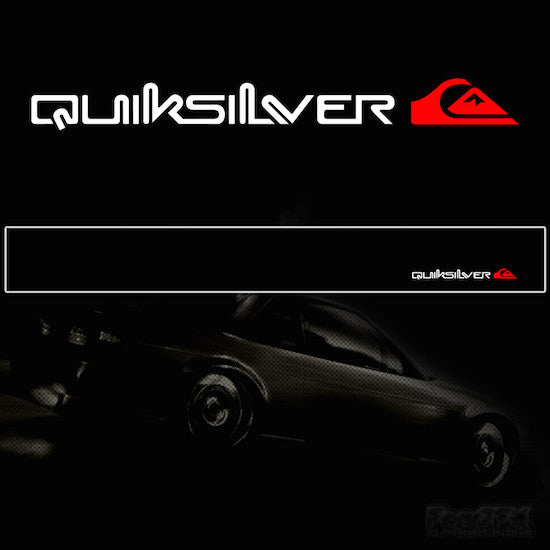 Quicksilver V2 Vinyl Windscreen SunStrip Any 3 Colours