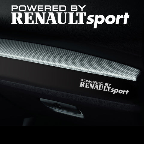 2x Renault Sport Dashboard Powered By Vinyl Decal