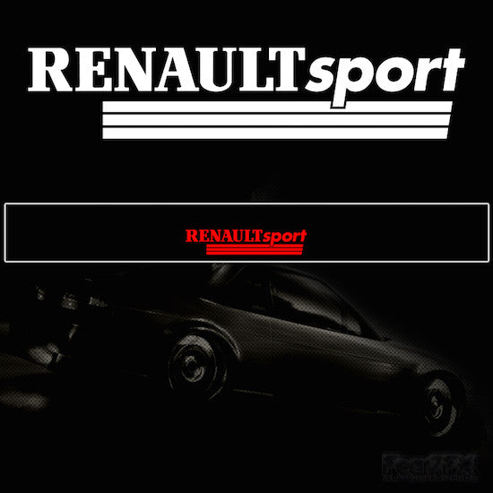 Renault Sport Vinyl Windscreen SunStrip Any 2 Colours