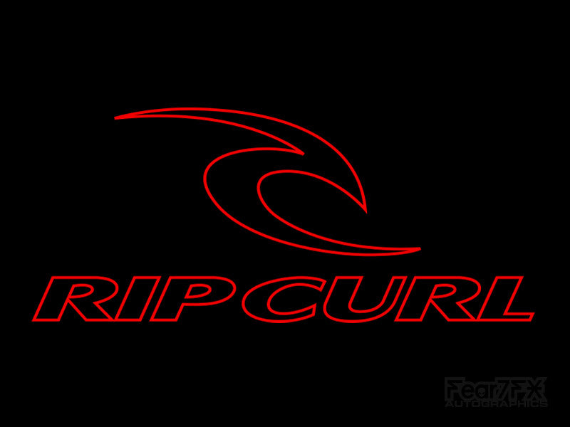 2x Rip Curl Outline Rare Vinyl Transfer Decal
