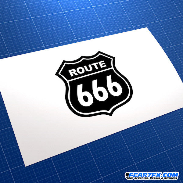 Route 666 Funny JDM Car Vinyl Decal Sticker